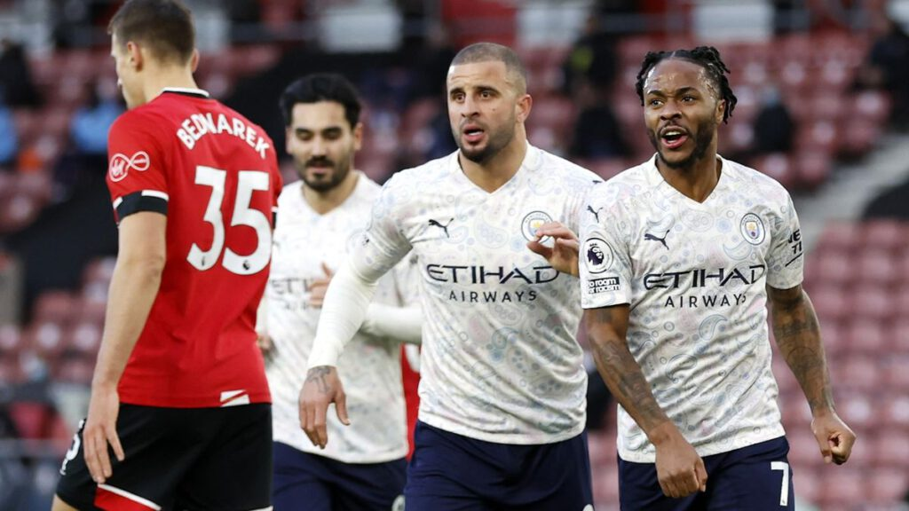 Image result for Manchester City restore 10-point lead, Manchester United keep ahead of Leicester City